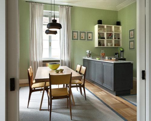 Sala da pranzo con pareti verdi foto idee arredamento - Colori pareti sala da pranzo ...