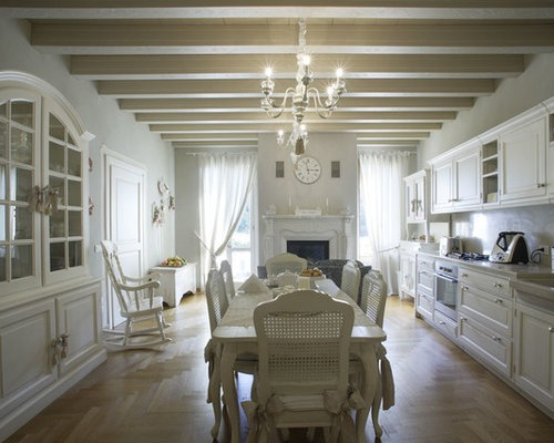 inspiration pour une salle manger style shabby chic