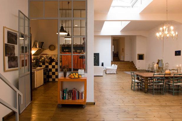 5 Idee Per Separare la Cucina dal Living con Una Sola Vetrata