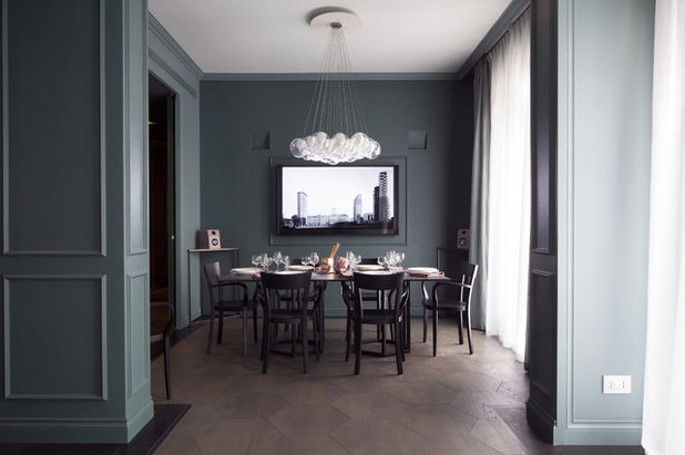 Contemporaneo Sala da Pranzo by Studio Andrea Castrignano