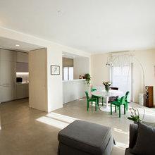 C8 - soggiorno e cucina - 100 mq - Modern - Wohnbereich ...