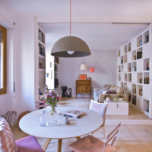 Design ideas for a scandinavian dining room in Rome.