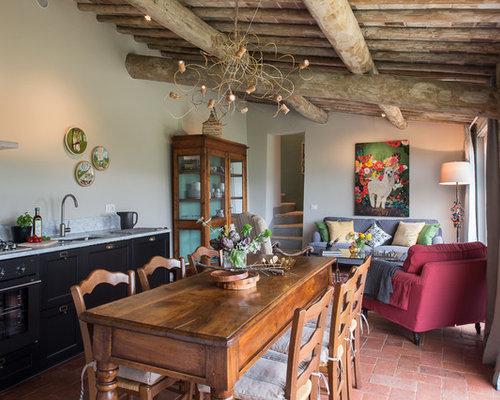 Foto e idee per sale da pranzo sala da pranzo in campagna - Arredamenti sala da pranzo ...