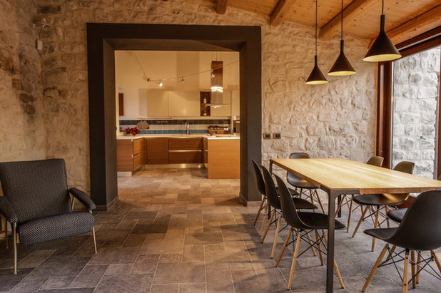 Rustico Sala da Pranzo by Viviana Pitrolo architetto