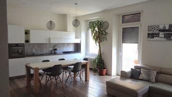 Casa V+3 in bianco e legno | 120 MQ