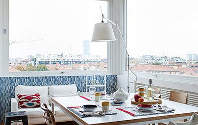 Casas Houzz: En Milán, el cálido piso de una pareja con dos hijos