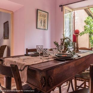 Immagine di una sala da pranzo boho chic