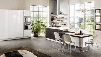 cucina laccato lucido e legno