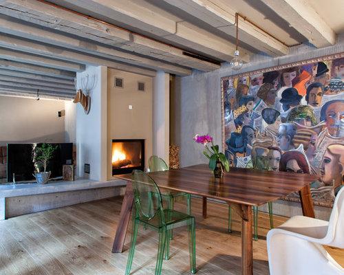 sala da pranzo aperta verso il soggiorno con camino bifacciale ... - Soggiorno Con Camino Bifacciale 2