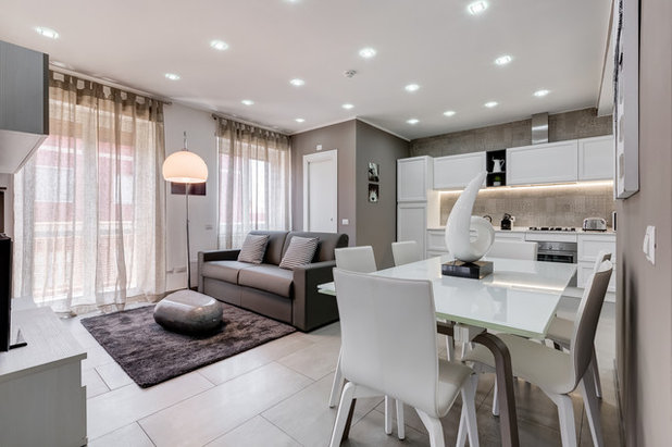 Contemporary Dining Room by Luca Tranquilli Photographer