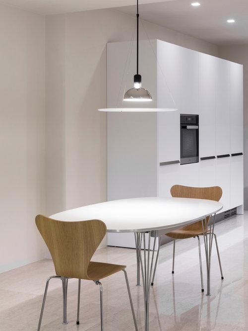 Sala da pranzo moderna con pavimento in marmo - Foto, Idee, Arredamento