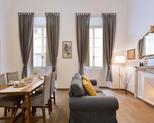 Sala Da Pranzo Contemporanea : Sala da pranzo contemporanea con camino classico foto idee