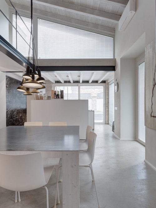 Sala da pranzo aperta verso il soggiorno contemporanea - Foto, Idee ...