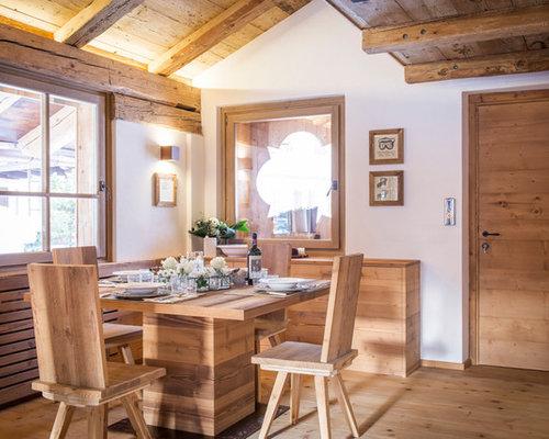 Sala da pranzo in montagna - Foto, Idee, Arredamento