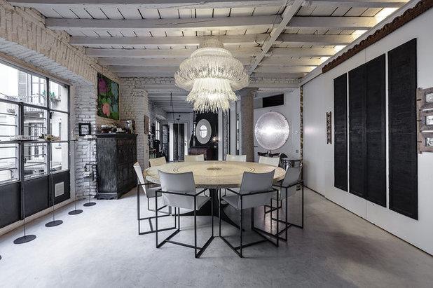 Industriale Sala da Pranzo by ARTvisual Photography