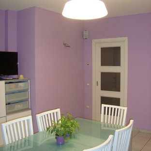 This is an example of a modern dining room in Other.
