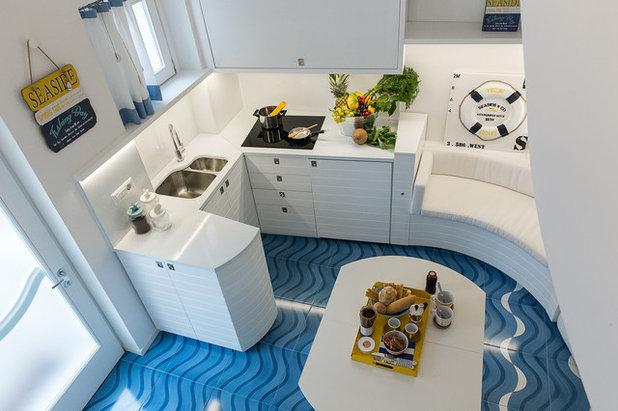 Le case di houzz il mini di 33 mq che sembra una barca for Piccola sala da pranzo