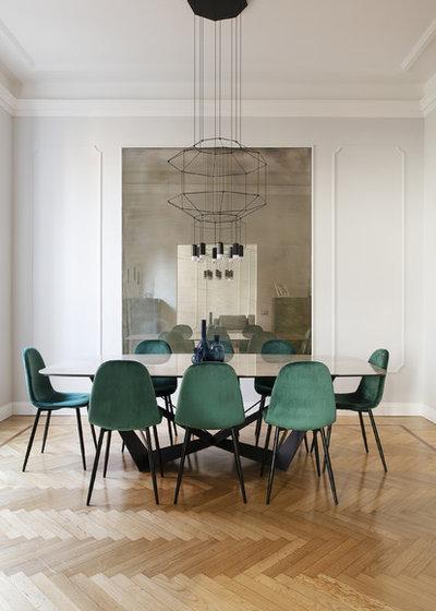 Contemporaneo Sala da Pranzo by Arabella Rocca Design