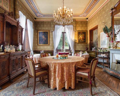 ... Con Camino : Foto e idee per sale da pranzo sala con camino classico