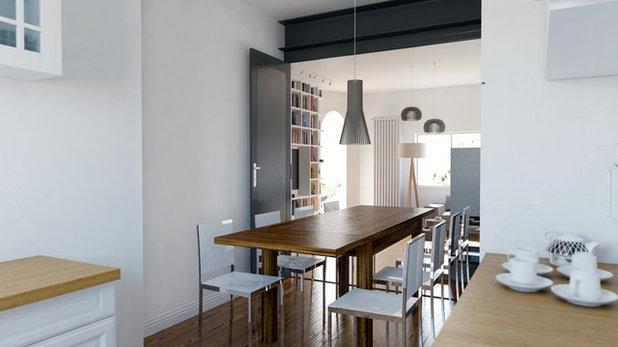 Scandinavo Sala da Pranzo by 02A Studio | Architettura & Design