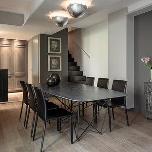 Sala da pranzo classica con pareti grigie - Foto, Idee, Arredamento