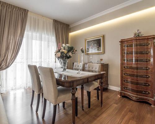 Sala da pranzo aperta verso il soggiorno classica - Foto, Idee ...
