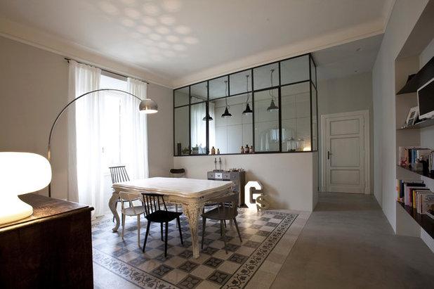5 idee per separare la cucina dal living con una sola vetrata - Porta divisoria zona notte ...