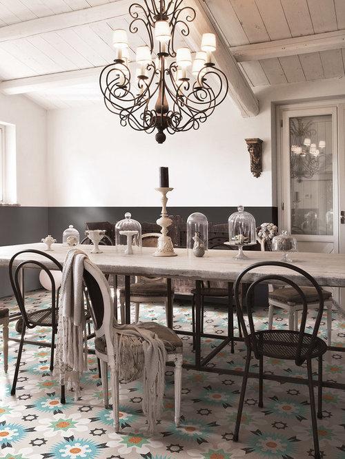 Grande salle à manger romantique : Photos et idées déco de salles ...