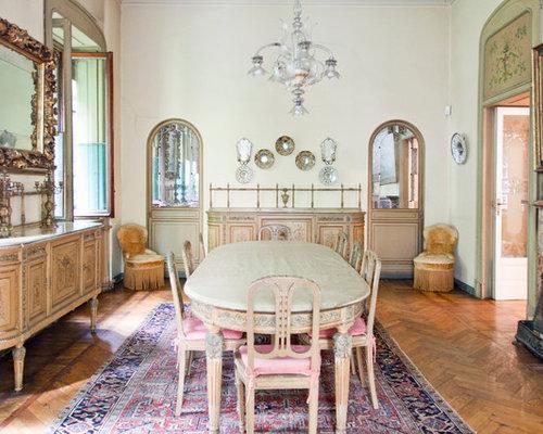 Sala da pranzo classica con camino classico - Foto, Idee, Arredamento