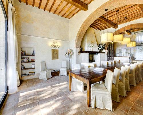 Sala da pranzo con camino classico - Foto, Idee, Arredamento