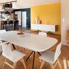 9 salles à manger sublimées par des murs hauts en couleur