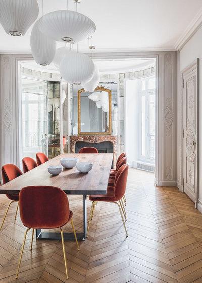 Contemporary Dining Room by Fanny Prat - Architecte d'intérieur