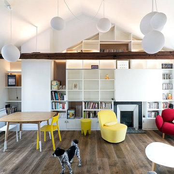 Appartement BEL rénovation / récupération des combles d'un appartement parisien