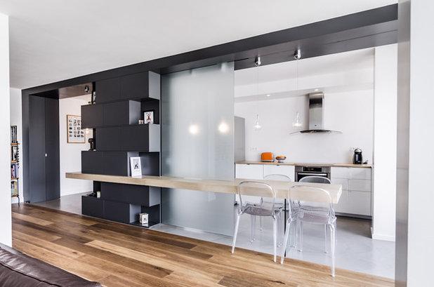 5 idee per separare la cucina dal living con una sola vetrata for Soluzioni soggiorno