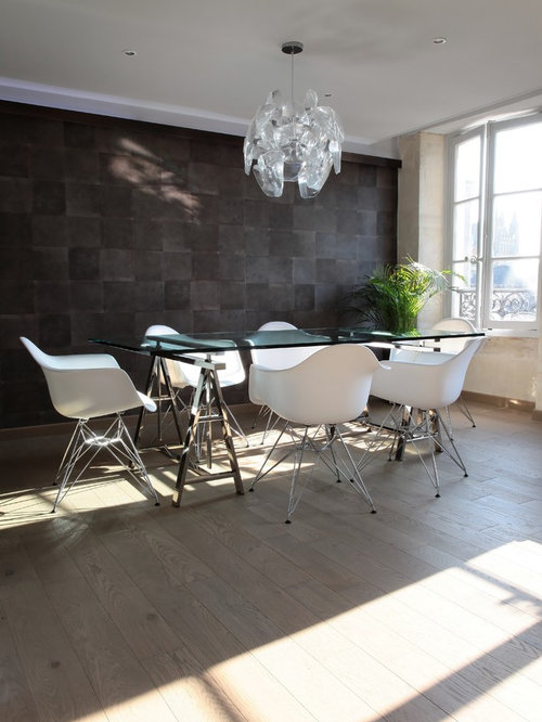 Salle manger mur gris anthracite photos et id es d co for Salle a manger mur gris