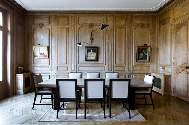 Comment casser le classicisme d 39 un appartement haussmannien for Salle a manger haussmannien