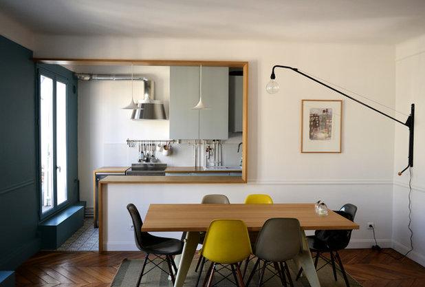 9 soluzioni originali per separare la cucina dal soggiorno for Cucina con sala da pranzo