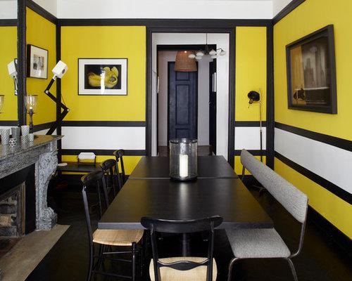 Salle manger contemporaine avec un sol en bois fonc for La salle a manger de francis jammes