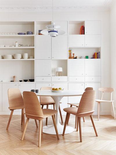 Scandinavian Dining Room by A+B KASHA Designs