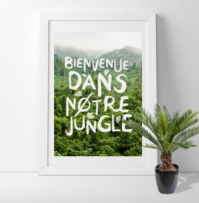 Contemporain Salle à Manger Bienvenue dans notre jungle