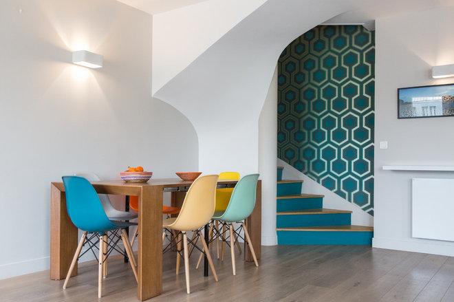 Midcentury Dining Room by Fanny Prat - Architecte d'intérieur