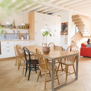 Arredamento Con Parquet Chiaro.Sala Da Pranzo Con Parquet Chiaro Bruxelles Foto Idee Arredamento