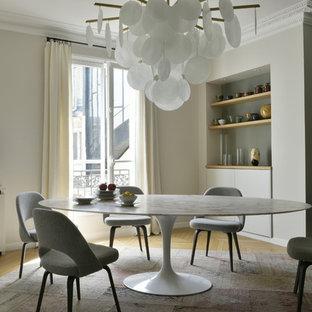 Salle à manger avec un mur beige : Photos et idées déco de salles à ...