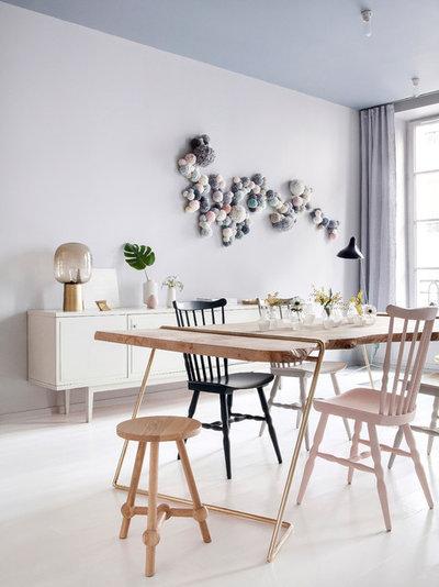Scandinavian Dining Room by ATELIER BAPTISTE LEGUE