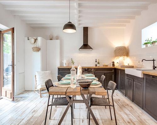 Salle à manger ouverte sur la cuisine classique : Photos et idées ...