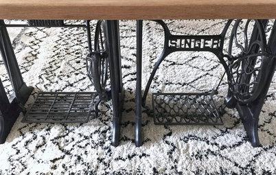 DIY : Fabriquer une table indus' avec des pieds de machine à coudre