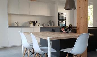 Cuisine ouverte dans une maison alsacienne