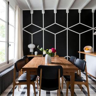 Idéer för funkis matplatser, med svarta väggar