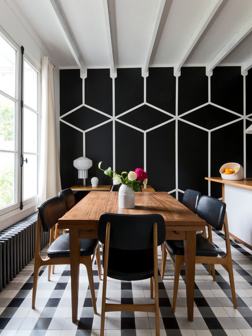 Best Small Dining Room With Black Walls Design Ideas
