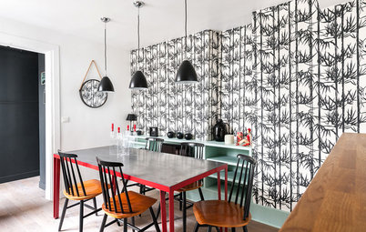 French Houzz: Bold and Bright Multi-Level Apartment in Paris